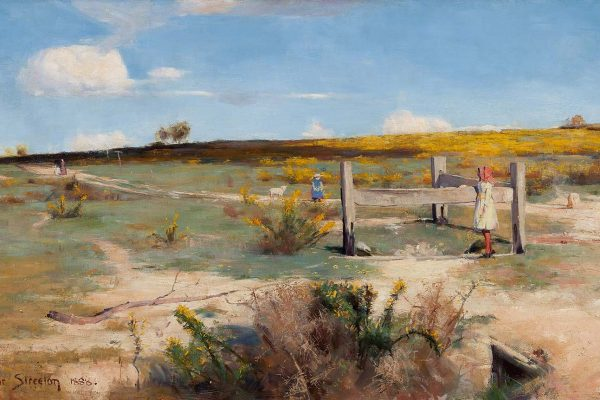 Arthur Streeton (1867–1943)Painted: 1888Location: Art Gallery of South AustraliaOriginal Size: 1000mm x 560mmReproduction Size: 800mm x 450mm