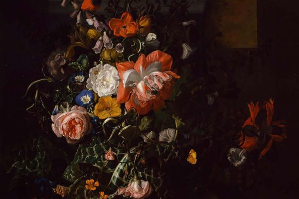 Rachel Ruysch (1664 – 1750)Painted: ca. 1680s Location: National Museum of Women in the ArtsOriginal Size: 840mm x 1080mmReproduction Size: 830mm x 1050mm